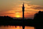 Abendstimmung mit Leuchtturm in Barßel